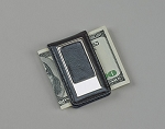 Monogrammed Personalized Black Leatherette Money Clip