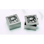 Pewter Finish Keepsake First Curl & First Tooth Box with Engraving