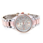 Women's Fancy Runway Style Two Tone Chronograph Watch