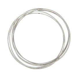 Sterling Silver 7 Day Luck Bangle Bracelet