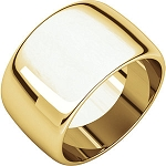 14KT Gold 12mm Half Round Band Wide Ring