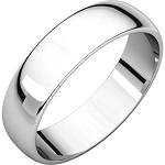 14KTGold 5mm Half Round Light Weight Wedding Band Wedding Ring