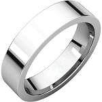 14KT Gold 2mm Flat Comfort Fit Band Wedding Ring