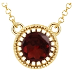 14Kt Birth Month Birthstone Necklace