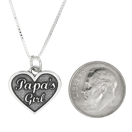 Sterling silver papas girl pendant necklace addthis sharing sidebar aloadofball Image collections