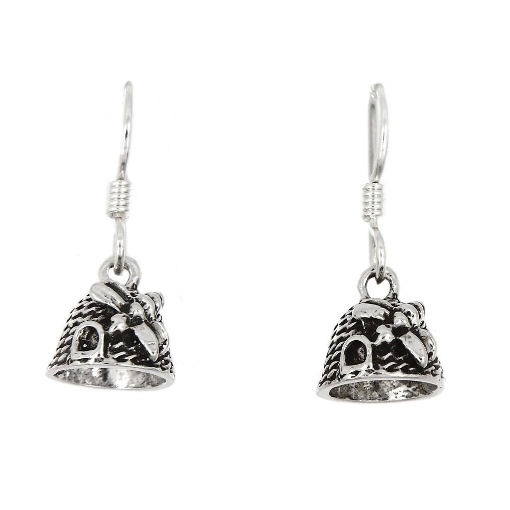 Sterling Silver Beehive Earrings