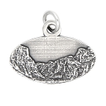 LGU® Sterling Silver Oxidized Yosemite National Park California Travel Charm -with Options