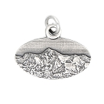LGU® Sterling Silver Oxidized Mount Everest Himalayas Mt. Everest Travel Charm -with Options