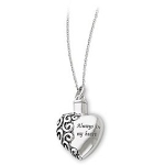 Sterling Silver Cremation Jewelry Memorial Urn Ash Holder Pendant Necklace