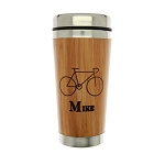 Custom Monogrammed Personalized Bamboo Travel Mug Coffee Mug