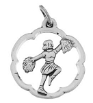 Vintage Sterling Silver BEAUCRAFT Cheerleader Charm