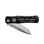 Monogrammed Personalized 4.5 Inch Metal Foldable Pocket Knife with Clip
