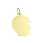 14kt Yellow Gold Engravable Personalize Boy Silhouette Charm Pendant