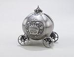 Non Tarnish Pewter Finish Monogrammed Keepsake Princess Pumpkin Coach Pumpkin Carriage Bank