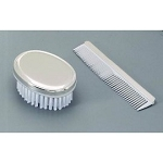 Silver Tone Finish Keepsake Comb/Brush with Engraving