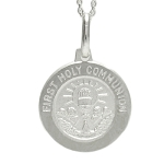 Sterling Silver Holy Communion Medal Communion Charm