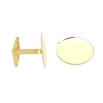 Personalize Monogrammable 14kt Yellow Gold Oval Cufflinks