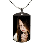 Custom Polymer Glazed Color Dog Tag Picture Pendant Necklace
