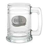 Monogrammed Personalize Engraveable Groomsman Glass Tankard Beer Mug for Wedding Party