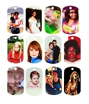 Double Sided Full Color Custom Personalized Photo Dog Tag Picture Pendant w/ Military Ball Chain