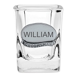 Monogrammed Personalize Engraveable Best Man Groomsman Shot Glass for Wedding Party