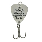 LGU®  Monogrammed Personalized Hook Fishing Lure - PURELY CUSTOM