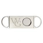Monogrammed Personalized Cigar Cutter for Company or Personal Logo Front and Back