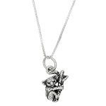 Sterling Silver One Sided Small Koala Bear Climbing Tree Necklace