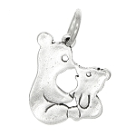 Sterling Silver Kissing Bears Bear Charm