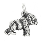 Sterling Silver Three Dimensional Gorilla Traditional Charm