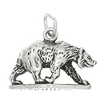 Sterling Silver Bear Bar Harbor Maine Charm - with Options