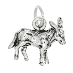 Sterling Silver Three Dimensional Donkey Mule Charm