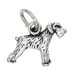 Sterling Silver Tiny Schnauzer Dog Charm or Pendant