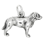 Sterling Silver Three Dimensional Labrador Dog Charm