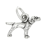 Sterling Silver Tiny Pointer Dog Charm or Pendant