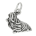 Sterling Silver Three Dimensional Yorkshire Terrier Dog Charm