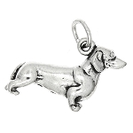 New Sterling Silver Dachshund Dog Charm or Pendant