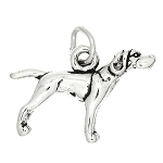 Sterling Silver 3d Adult Pointer Dog Charm or Pendant