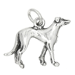 Sterling Silver Three Dimensional Greyhound Dog Charm