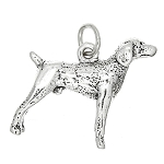 Sterling Silver Three Dimensional Weimaraner Pointer Dog Charm