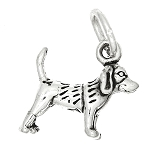 Sterling Silver Tiny Lightweight Beagle Dog Charm