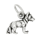 Sterling Silver Tiny German Shepherd Dog Charm or Pendant