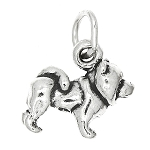Sterling Silver 3d Tiny Dog Chow Charm Pendant -with Options