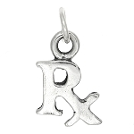 WHOLESALE Sterling Silver Rx Symbol Charm TOTAL 15 PCS