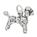 Sterling Silver Three Dimensional Small Poodle Dog Charm