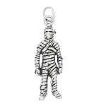 Sterling Silver Mummy Charm Pendant -with Options