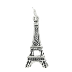 Sterling Silver Tall Paris Eiffel Tower in France Three Dimensional Charm