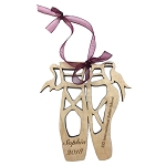 Custom made Wood Monogram Personalized Ballet Shoes Ornament Ballet Christmas Ornament (COPY)