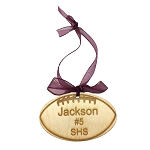 Custom made Wood Monogram Personalized Football Ornament Sport Christmas Ornament