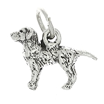 Sterling Silver Labrador Retriever Three Dimensional Dog Charm